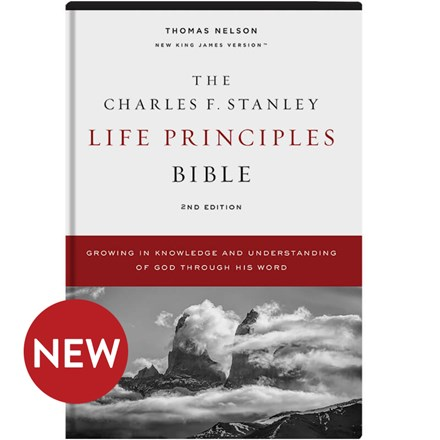 NKJV Charles F. Stanley Life Principles Bibles, 2nd Edition - Hardcover BB-NKH