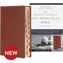 NASB Bible 2nd Ed. (Comfort Print; Indexed) - Brown Genuine Leather BBNASL6055