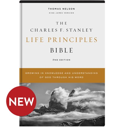 KJV Charles F. Stanley Life Principles Bibles, 2nd Edition - Hardcover BB-KJH