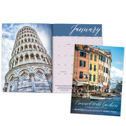 2019 Monthly Planning Calendar—Crowned With Goodness: A Journey Through Italy CAL19PC