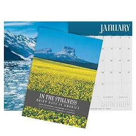 2018 Monthly Planning Calendar: In The Stillness, Quiet Days In America CAL18DK