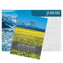 2018 Monthly Planning Calendar: In The Stillness, Quiet Days In America CAL18DK