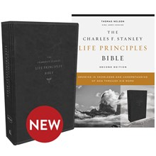 KJV Charles F. Stanley Life Principles Bibles, 2nd Edition - Black Leathersoft BB-KJLBL