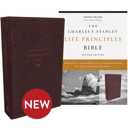 KJV Charles F. Stanley Life Principles Bible, 2nd Edition (Comfort Print) - Burgundy Leathersoft BB-KJLBU