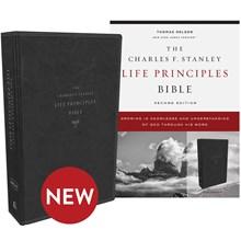 NKJV Charles F. Stanley Life Principles Bibles, 2nd Edition - Black Leathersoft BB-NKLBL