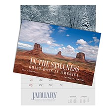 2018 Wall Calendar: In The Stillness, Quiet Days In America CAL18