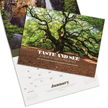 2022 wall calendar taste and see a year in gods presence CLWALL22